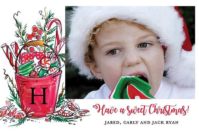 Bucket of Joy Holiday Photo Cards