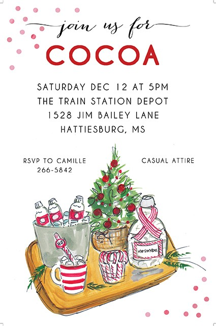Cocoa Cocktails Holiday Invitations