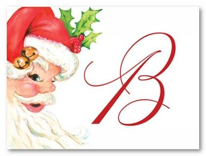 Santa Personalized Folded Note