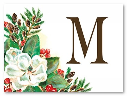 Merry Magnolia Personalized Folded Note