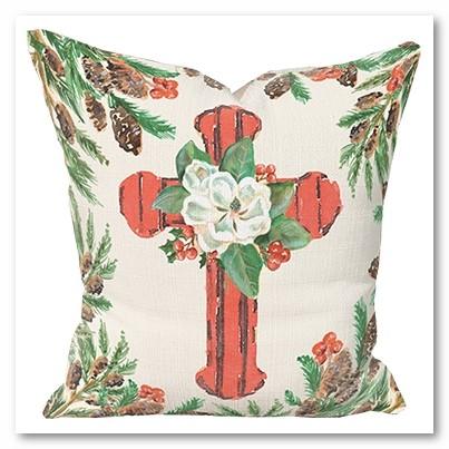 Magnolia Cross Pillow