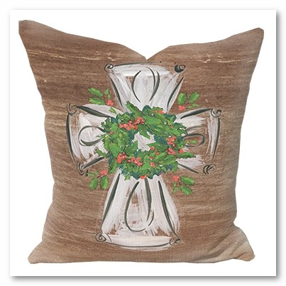 Rustic Cross Pillow